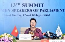 Participa Vietnam en la XIII Cumbre de jefas de parlamentos del mundo