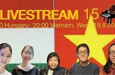 Efectúan concierto en línea con motivo del Día de Independencia de Vietnam y de Hungría