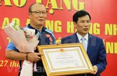 Confieren Orden del Trabajo de segunda clase al entrenador Park Hang-seo