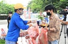 """Supermercado de cero dong"" respalda a estudiantes afectados por el COVID-19 en Da Nang"