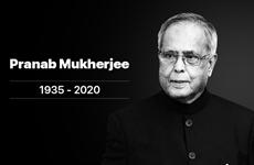 Vietnam expresa condolencias por fallecimiento del expresidente indio Pranab Mukherjee