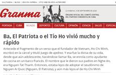 Prensa cubana alaba a Vietnam a 75 años de su independencia