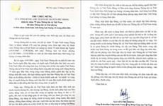 Máximo dirigente de Vietnam felicita a la VNA en su aniversario 75 de fundación