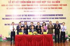 Samsung Electronics firma memorando para apoyar a empresas vietnamitas