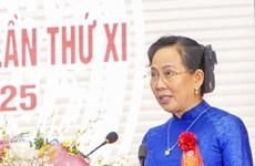 Reeligen a secretaria del Comité del Partido Comunista de Vietnam en provincia de Ha Nam