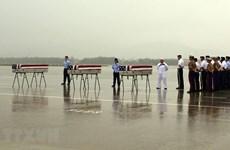 Efectúan ceremonia de repatriación de restos de militares estadounidenses