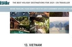 Vietnam entre sugerencias de viaje de la revista CN Traveler