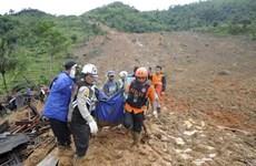 Diez muertes por deslizamientos de tierra en Indonesia