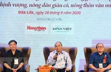 Premier vietnamita dialoga con agricultores de la región Centro-Altiplanicie Occidental