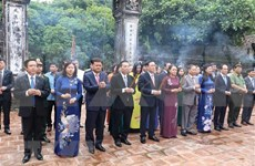 Rinden homenaje a fundador de Thang Long-Ha Noi