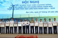 Provincia vietnamita de Bac Lieu por agilizar la construcción de nuevas zonas rurales