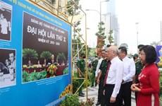Exposición fotográfica saluda a la XI Asamblea de Comité partidista de Ciudad Ho Chi Minh