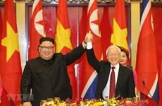 Máximo dirigente de Vietnam felicita al Partido del Trabajo de Corea por su 75 fundación