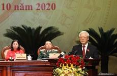 Máximo dirigente de Vietnam exige incrementar aportes del comité partidista en Hanoi al desarrollo nacional