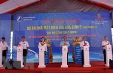 Construye mayor planta de energía eólica del delta del río Mekong