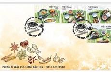 Lanzan conjunto de estampillas sobre gastronomía vietnamita
