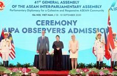Dirigentes parlamentarios felicitan a Vietnam por el AIPA-41