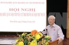 Máximo dirigente vietnamita pide responsabilidad de diputados y votantes de Hanoi para construir la capital digna