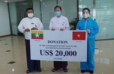 Vietnam entrega suministros médicos a Myanmar para apoyar la lucha contra COVID-19