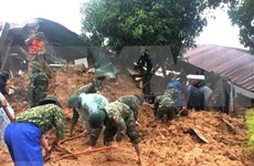 Recuperan primer cuerpo de soldados desaparecidos por deslave en provincia centrovietnamita