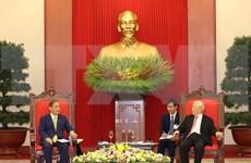 Máximo dirigente de Vietnam sostiene encuentro con primer ministro japonés