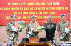 Vietnam envía otros tres oficiales a misión de Mantenimiento de Paz de la ONU