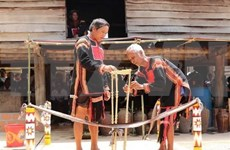 Restauran ceremonia de adoración de agua de etnia Jrai