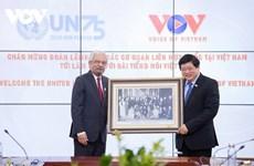 Dirigentes de la Voz de Vietnam se reúnen con representantes de organismos de ONU en el país