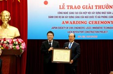 Puerto vietnamita recibe premio de tecnología de innovación de Japón