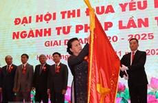 Presidenta del Parlamento vietnamita recomienda renovar trabajo de emulación patriótica