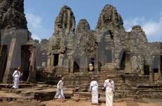 Reducción severa de turistas foráneos a famoso templo Angkor