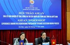 ASEAN comparte experiencias para aumentar participación ciudadana en la toma de decisión