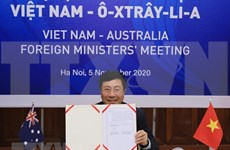 Efectúan II Reunión de Relaciones Exteriores Vietnam-Australia