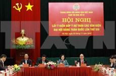 Continúan los debates sobre documentos del XIII Congreso Nacional del Partido Comunista de Vietnam