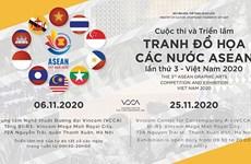Efectúan en Hanoi tercera Exposición de Pinturas Gráficas de la ASEAN