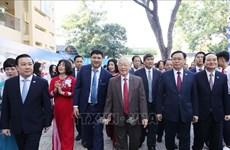 Máximo dirigente de Vietnam asiste a aniversario 70º de escuela Nguyen Gia Thieu