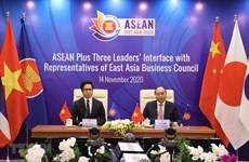 Dialogan líderes de ASEAN +3 con representantes del Consejo Empresarial de Asia Oriental