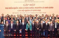 Honra máxima legisladora de Vietnam a maestros nacionales