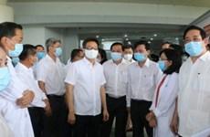 Supervisan labores preventivas del COVID-19 en la provincia vietnamita de Long An