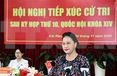 Presidenta del Parlamento de Vietnam se reúne con votantes de ciudad sureña de Can Tho