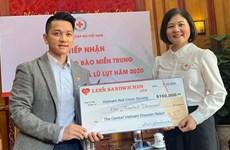Cruz Roja de Vietnam recibe 100 mil dólares en apoyo a la región central