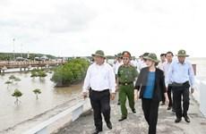 Presidenta del Parlamento pide reforzar combate contra la erosión costera