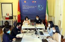 Efectúan Foro virtual de cooperación económica entre Vietnam e Italia