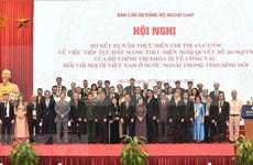Vietnam promueve eficiencia de labores relativas a compatriotas en extranjero
