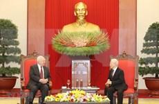 Destaca máximo dirigente de Vietnam relaciones estratégicas con Rusia