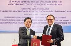Vietnam y Belarús intensifican cooperación en producción de vehículos de transporte