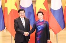 Reafirma máxima legisladora de Vietnam apoyo a nexos con Laos