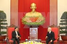 Recibe máximo dirigente de Vietnam a premier de Laos