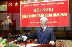 Máximo dirigente de Vietnam destaca cumplimiento de misiones de defensa en 2020