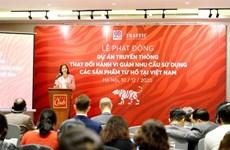 Disminuye demanda de productos procesados de tigre en Vietnam
